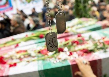 مراسم وداع با پیکر ۱۵۰ شهید گمنام دوران دفاع مقدس (عکس)
