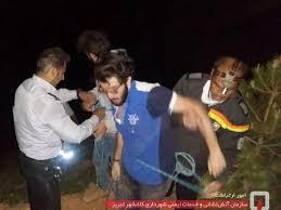 با تلاش آتش نشانان، دو شهروند گرفتار از پرتگاه کوه عون بن علی نجات یافت