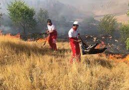 آتش سوزی تپههای باغمیشه تبریز مهار شد