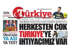 سخنگوی طالبان: بیش از هر کسی به ترکیه احتیاج داریم!